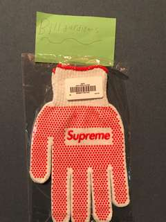 supreme grip pvc work gloves cotton box logo