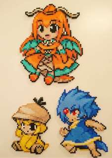 Hama beads design Anime pokemon moemon psyduck golduck dragonite