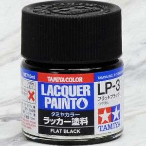 Tamiya Lacquer Paint Flat Black LP-3