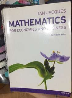 Mathematics for economics and business (pearson)