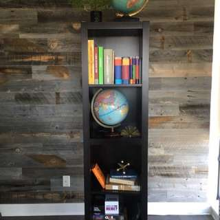 EQ3 Mahogany 4-Shelf Wooden Bookcase