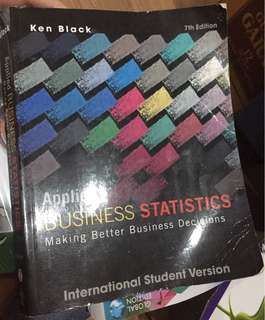 Applied business statistics (ken black)