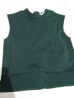 Tanktop green army / turtle neck