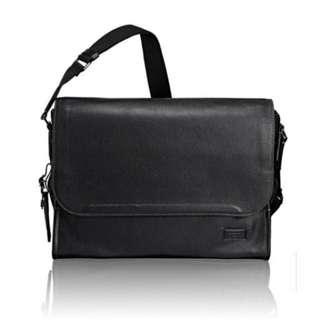 Tumi leather messenger bag