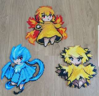 Hama beads design Anime pokemon moemon legendary birds moltres articuno zapdos