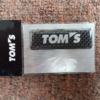 JDM TOM'S Carbon Fiber Decal Emblem