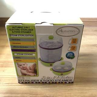 Autumnz 2in1 steriliser & food steamer