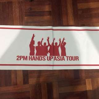 2PM Hands Up Asia Tour official merchandise towel