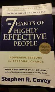 The 7 habbits of highly effective people. Stephen R.Covey Latest edition. Sale or swap