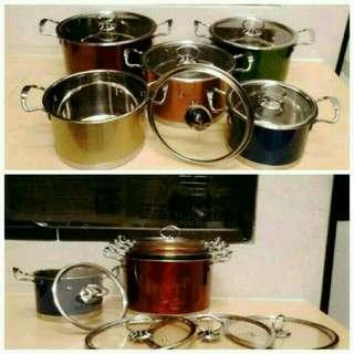 Panci set Korean high pots stainlees tebal
