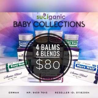 Organic balms for babies / family