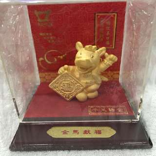Koufu Chinese zodiac figurine collectible Year of Horse 2014