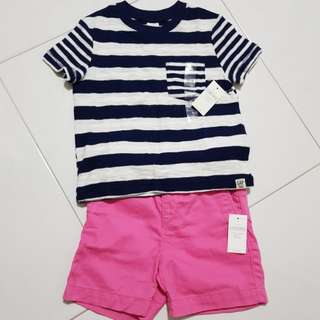 Baby Tshirt and pants from Baby Gap
