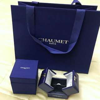 99%NEW Chaumet - Jeux de Liens 18ct white-gold and diamond ring