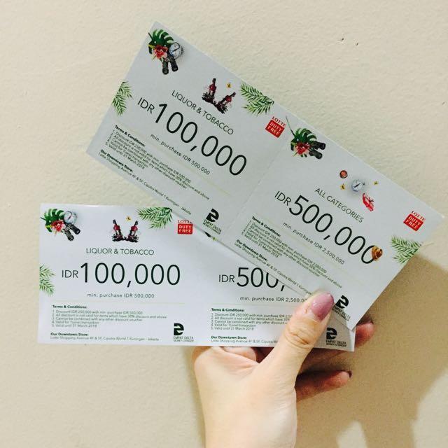 2 Shopping voucher Lotte Duty Free