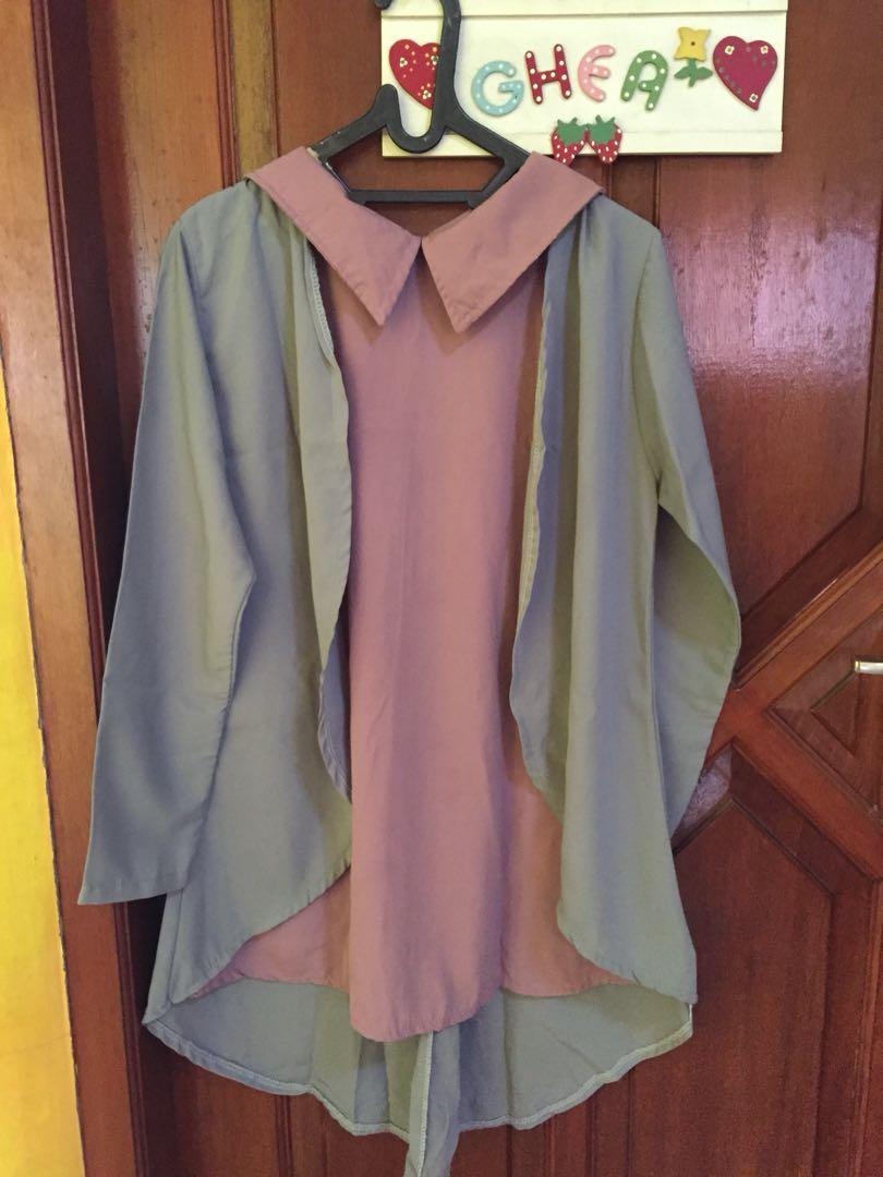 2tone blouse