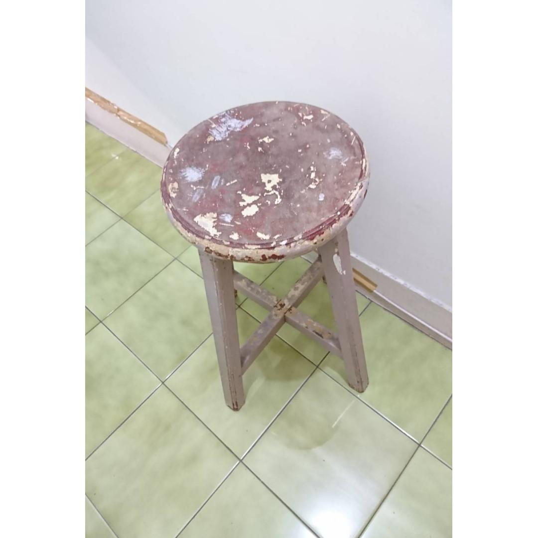 50年代懷舊阿公椅  單人椅 原木椅  歲月斑駁如圖   用35年了堅固正常