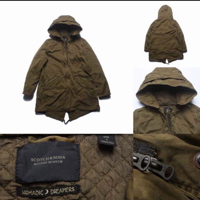 超強重磅水洗舊卡其布軍裝風衣大衣外套