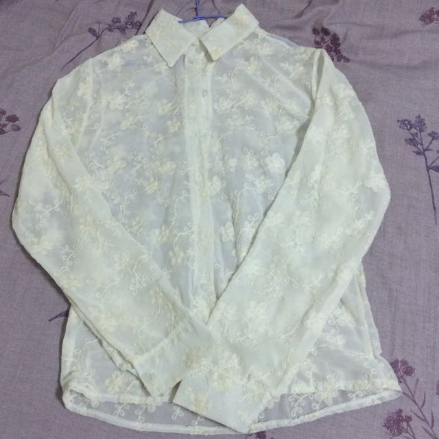 刺繡風襯衫