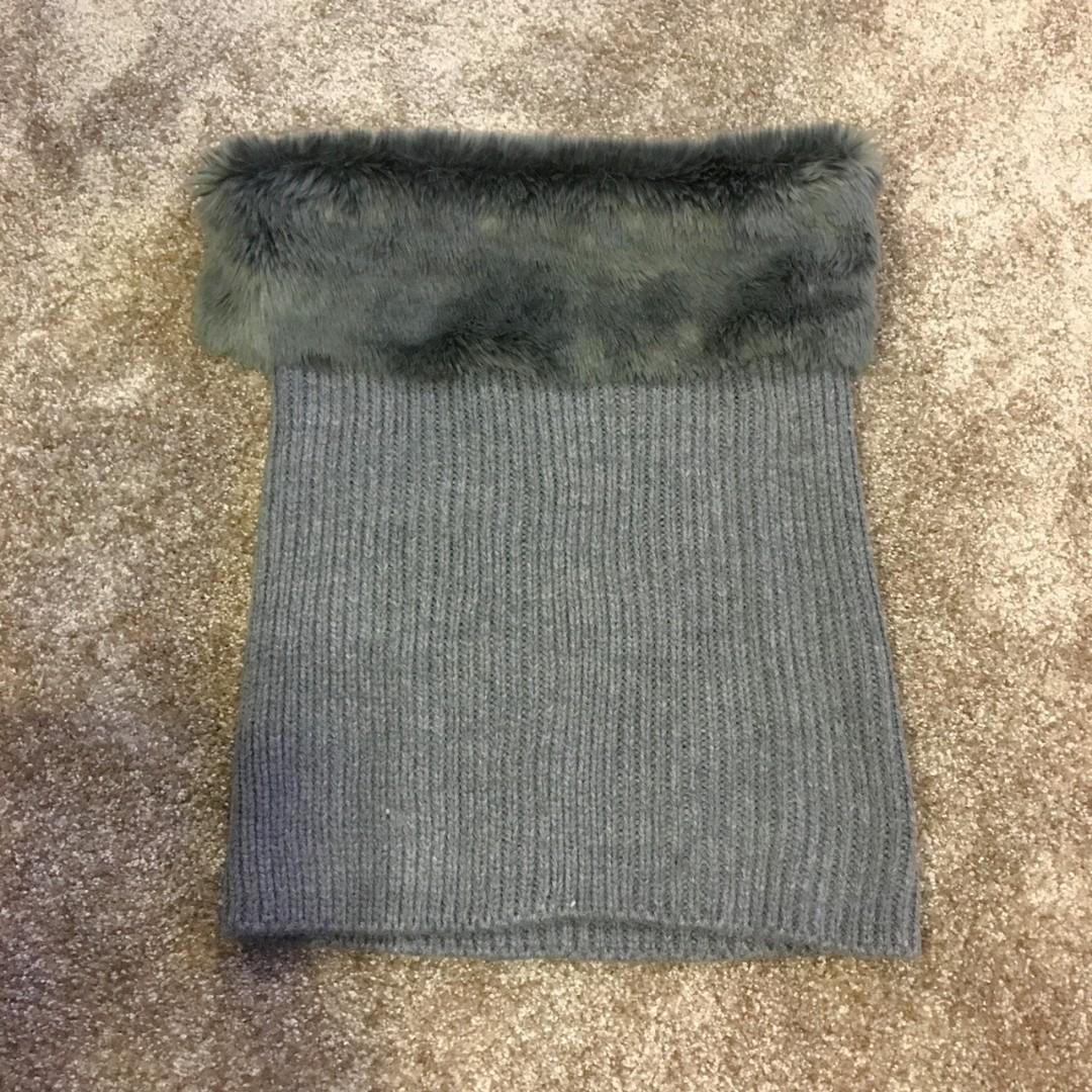 人造毛圍巾/可愛  可兩穿