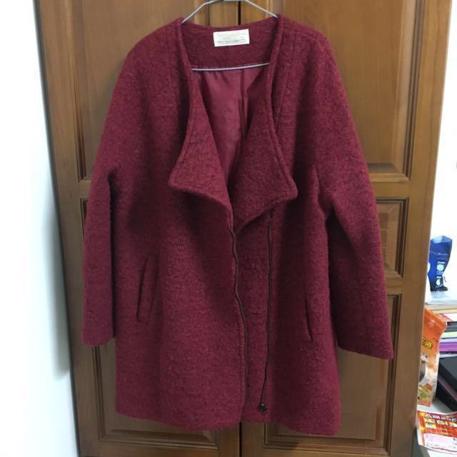 (降價)紅色 大衣 外套