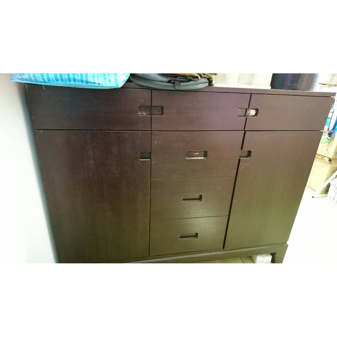 木頭櫃 電視櫃  收納櫃   四平八穩非常好用 簡約耐看不笨重 1樓可停車