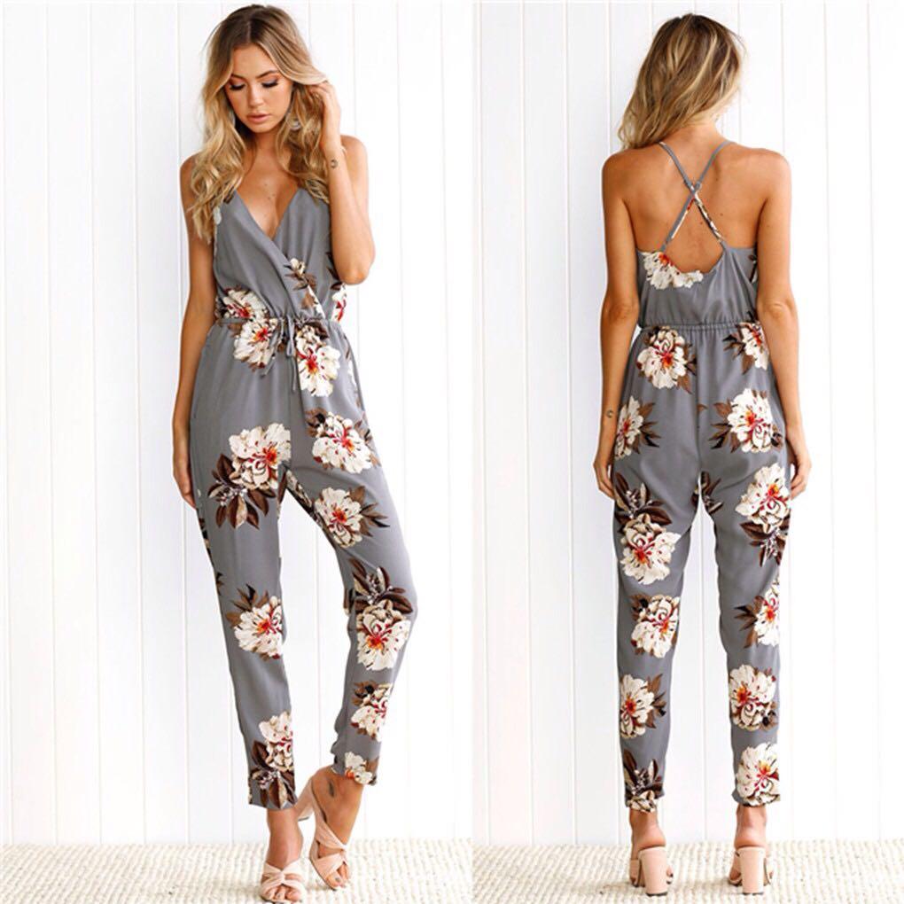 📬💌 Floral Print Jumpsuit