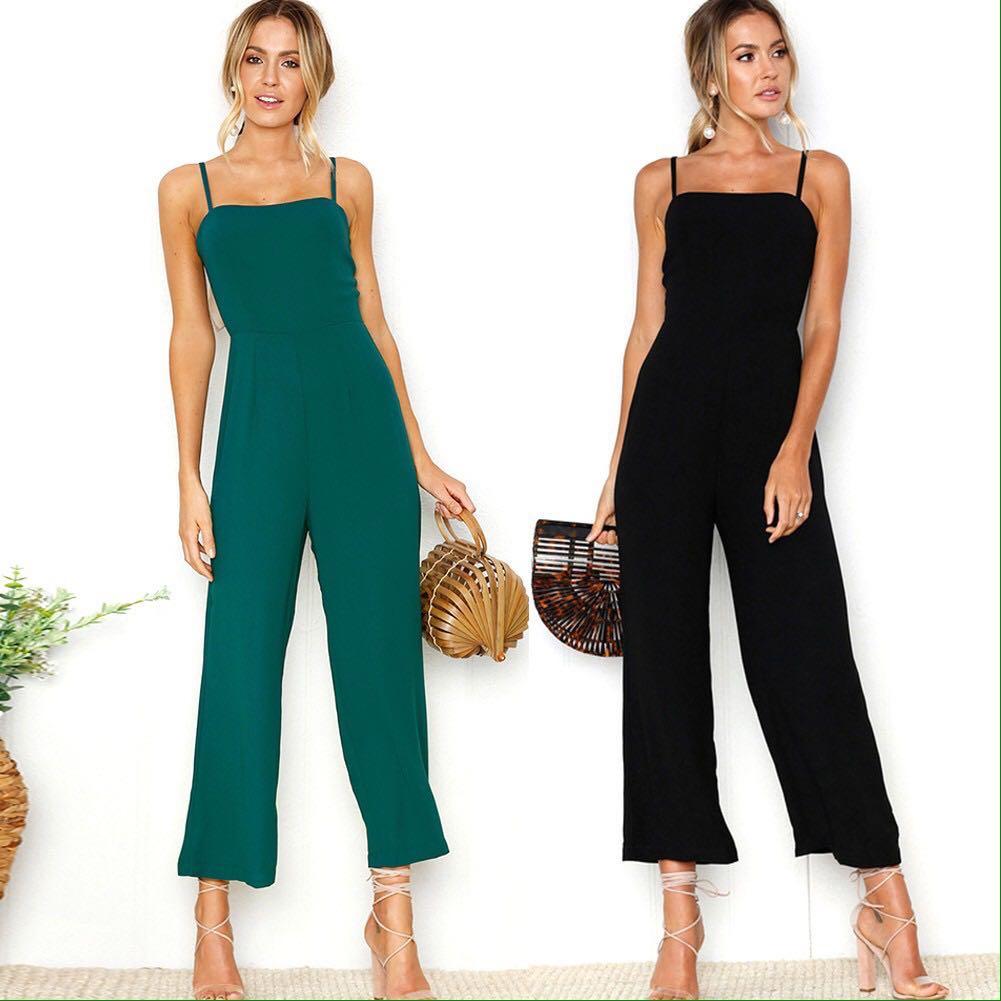 📬💌 Solid Coloured Long Jumpsuit