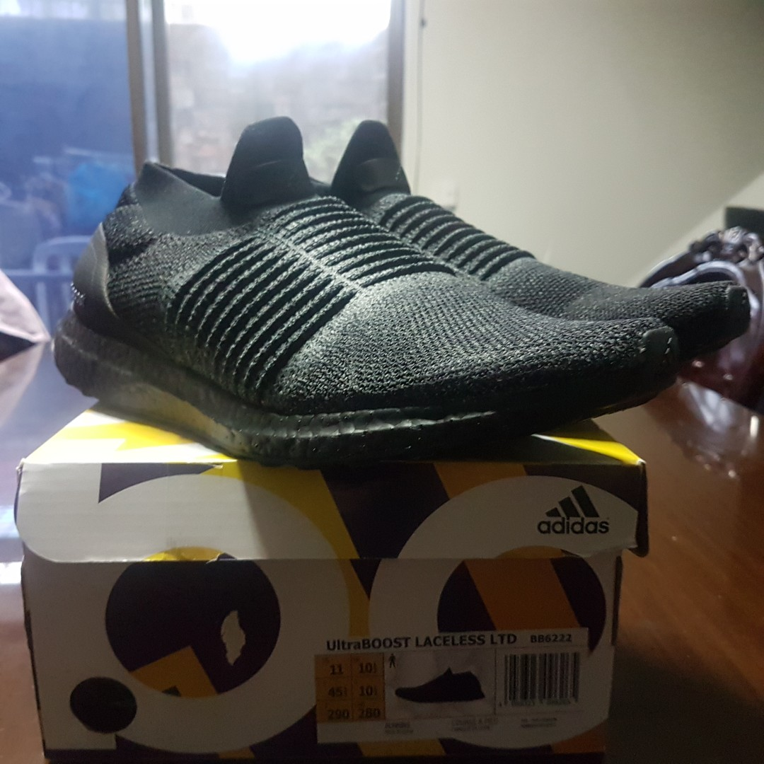 adidas ultraboost laceless triple black 3m limited b8b369346