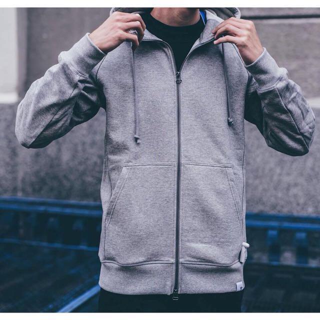 adidas XBYO 灰帽夾 連帽外套