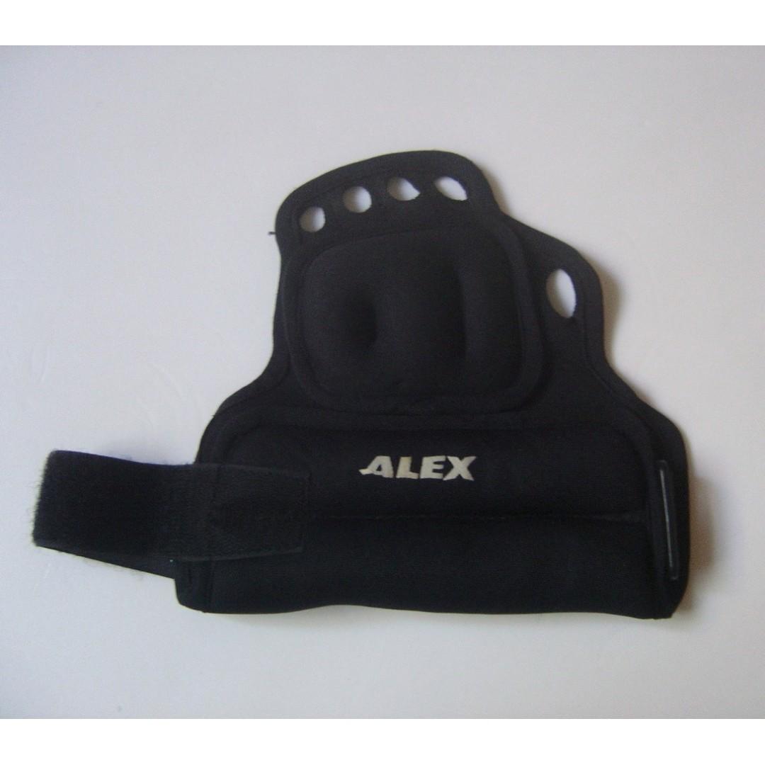 ALEX 重量訓練手背套 鐵沙加重器 手掌套沙袋 無指套穿戴式沙包 重力沙包 1.4kg~