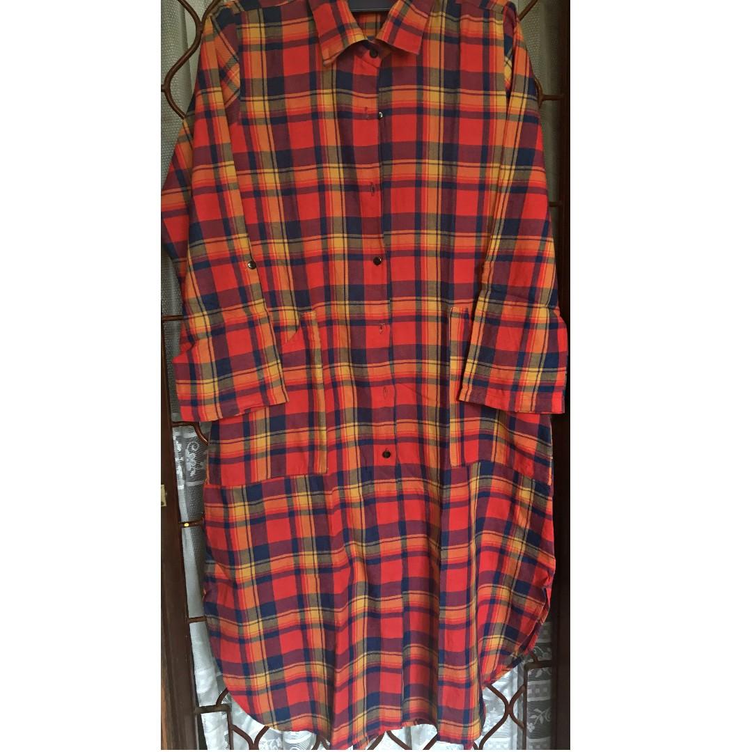 Atasan Flannel Panjang