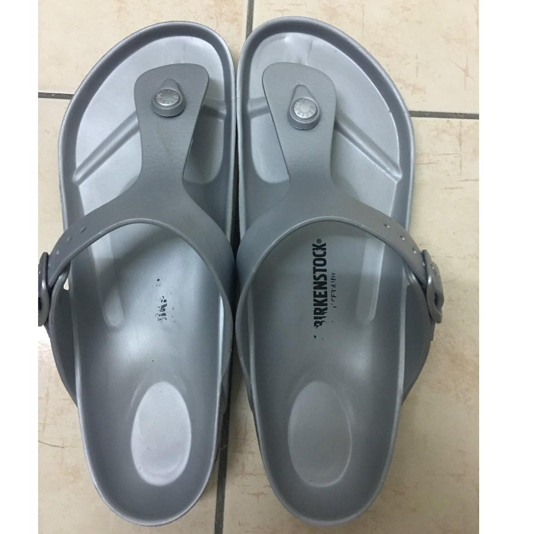 576707e1e99f Authentic Birkenstock Gizeh Eva Silver Sandals