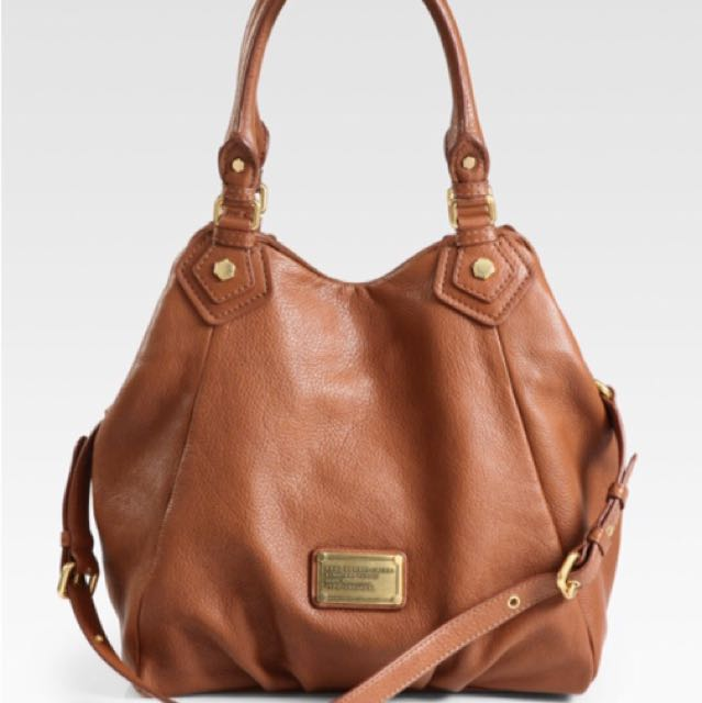 Authentic MARC BY MARC JACOBS large Classic Q Francesca tote in Tan