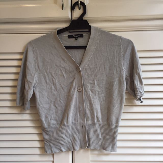 Authentic MaxMara Short Sleeve Silk Cardigan