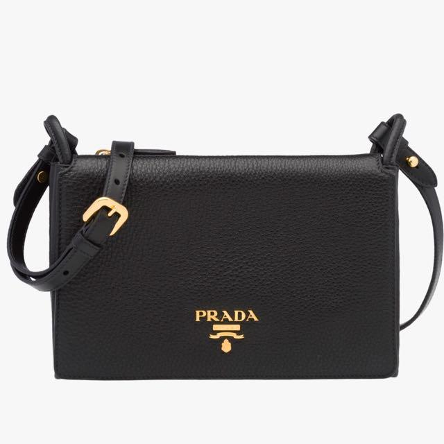 ... amazon authentic prada 1bh031 black vitello daino shoulder bag luxury  bags wallets on carousell 72a34 dc132 ba0aa97108d21