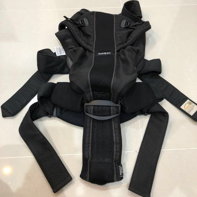 df10731fc37 Baby Bjorn Baby Carrier Miracle Air Airy Mesh - Black