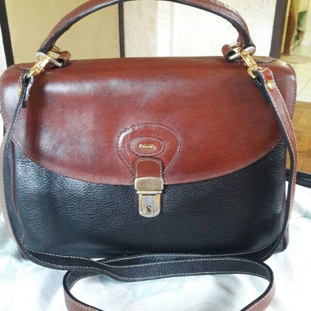 Bally Made in Italy Genuine Leather Top Handle Crossbody Bag