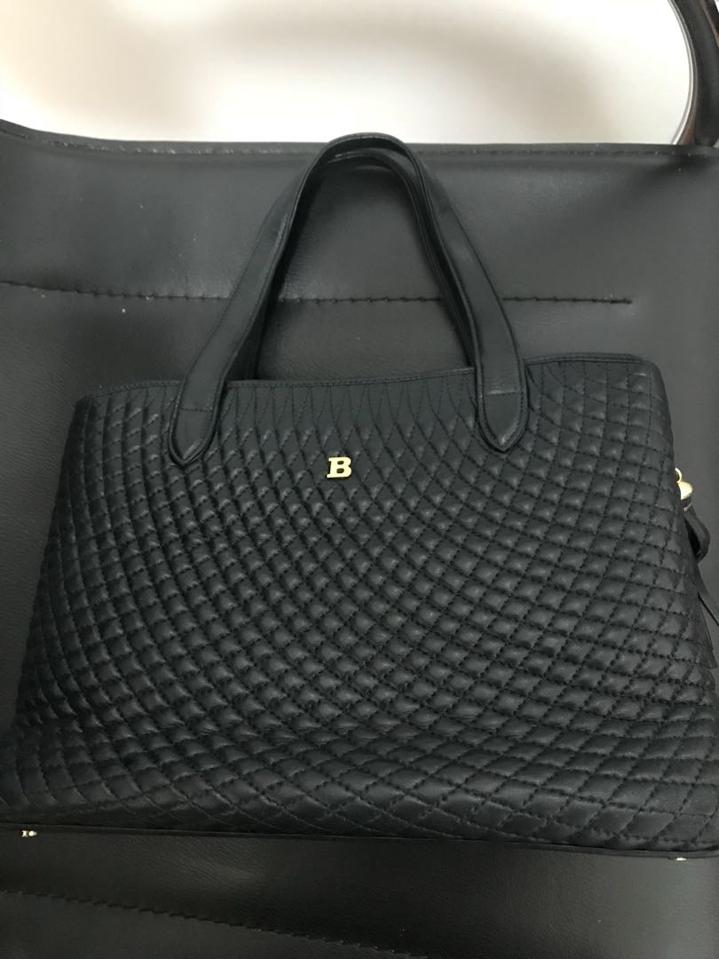 Bally Navy leather handbag