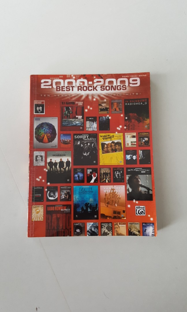 Best Rock Songs 2000-2009 Music Pieces for Piano Vocals