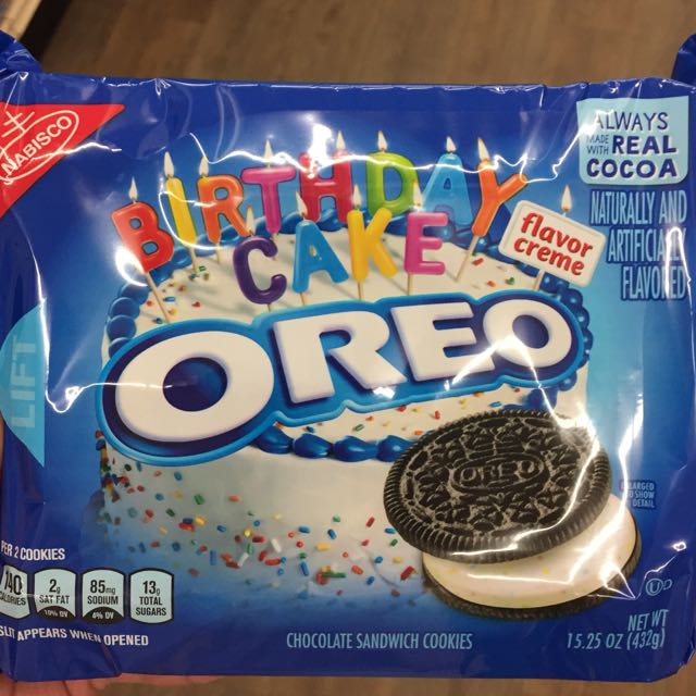 Excellent Birthday Cake Oreo Food Drinks Packaged Snacks On Carousell Funny Birthday Cards Online Fluifree Goldxyz
