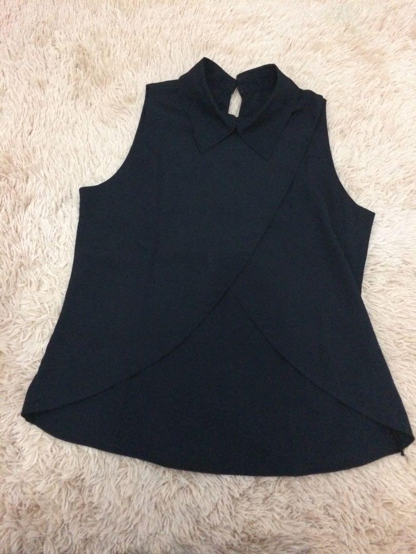 Black layered top