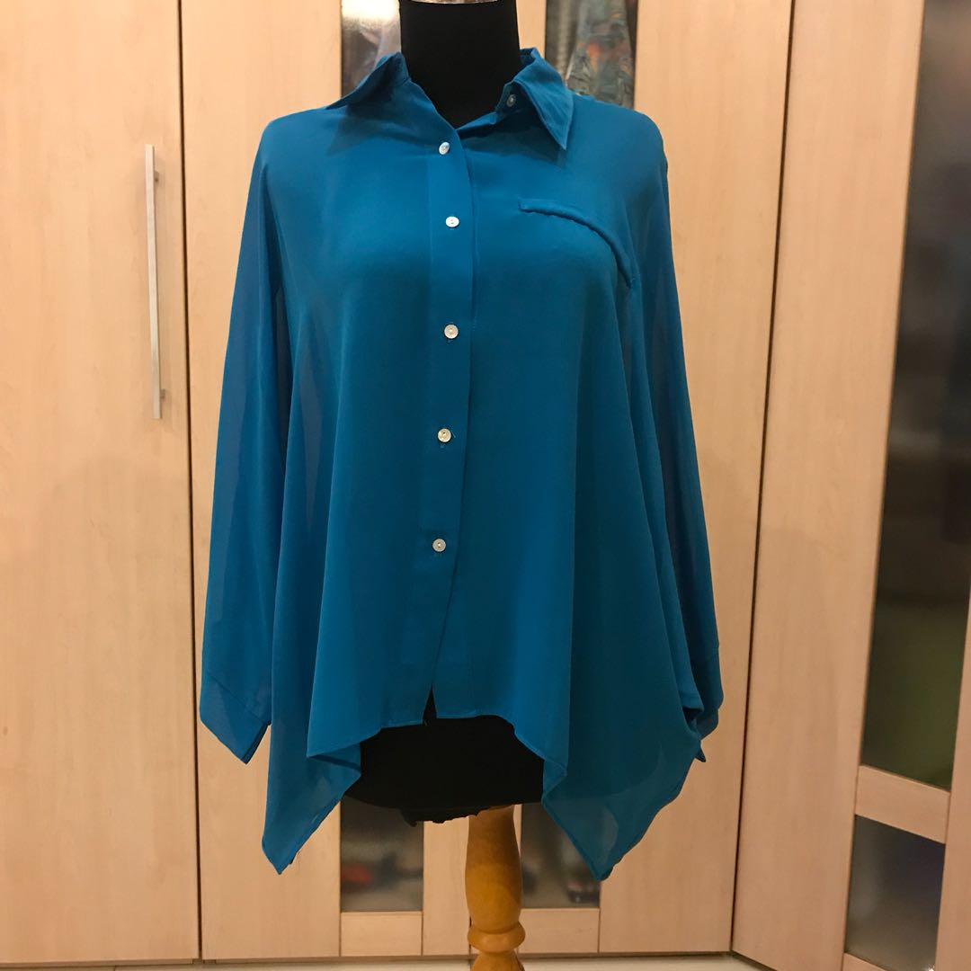 Blue Sifon Blouse