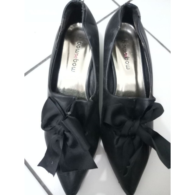 Bow Bow Black Shoes