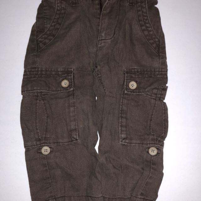 c5a7405f02f5 Brown old navy cargo pants 18-24 months on Carousell