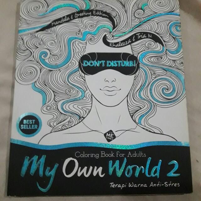 Buku Boy Chandra Dan Coloring Book My Own World Alat Tulis