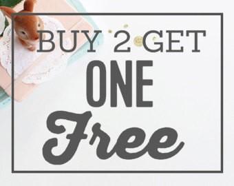 Buy 2 get 1 free