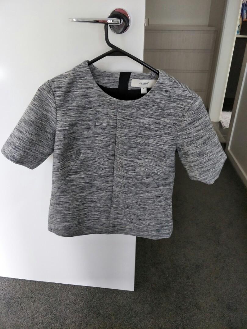 cameo grey top