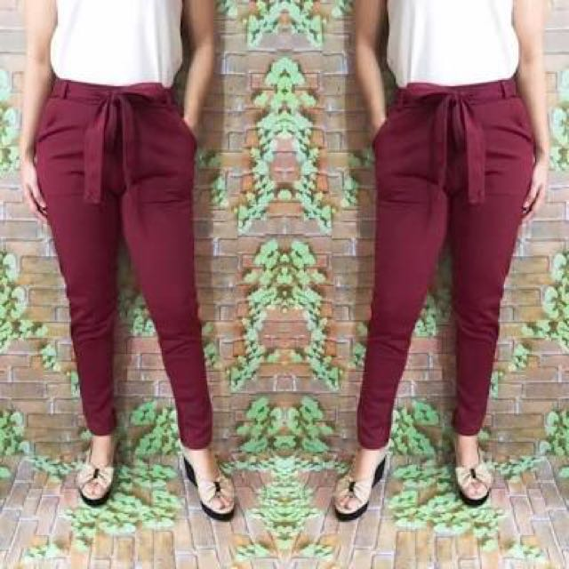 Candy pants maroon