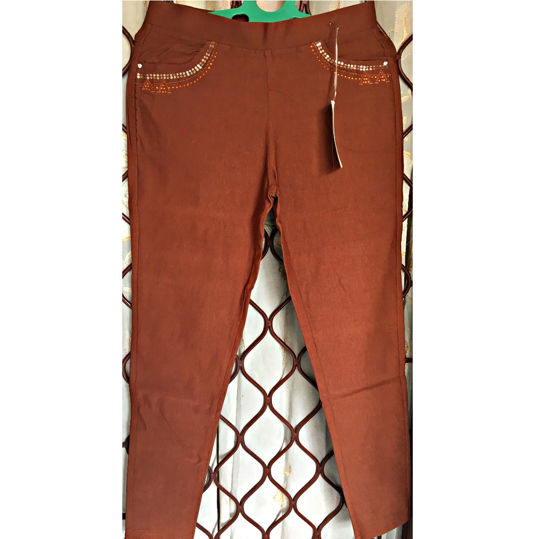 Celana Strech warna Coklat Tua